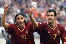 Nuno Gomes and Luís Figo